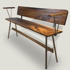 Vernon Rose Gold wooden bench